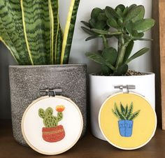 Easy hoop art made from iron on embroidery transfers. Cactus Embroidery, Iron On Embroidery, Simple Embroidery, Embroidery Transfers, Modern Embroidery, Embroidery Supplies, Embroidery Stitches, Embroidery Patterns, Contemporary Embroidery