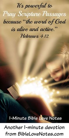 Praying scripture passages is powerful