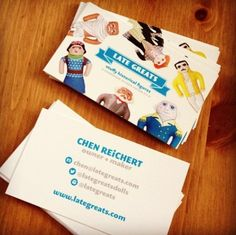 Were obsessed with these cartoon artist business cards put one of also trending on pinterest reheart Images