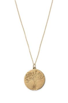 Charm-Kette Tree of Life| Tree of Life Charm-Halskette in Bronze oder Silber | Stella & Dot