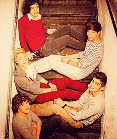 One Direction (Top to Bottom)  Harry Styles  Louis Tomlinson  Nial Horan (My Favorite <3)  Zayn Malik  and Liam Payne