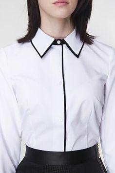 biela Work Looks, Geek Chic, Preppy, Ruffle Blouse, Tops, Women, Fashion, Moda Femenina, Moda