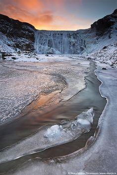 Frozen waterfall in Iceland by skarpi - www.skarpi.is on Flickr