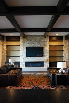Fireplace, stone fireplaces, natural stone veneer Realstone Systems Sierra Accent Stone www.realstone.com