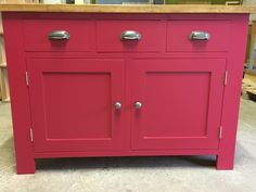 Rustic sideboard in F&B Rectory Red.