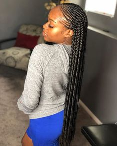swipe to see this workkkkk! 😍 & this post is long lonnnggg long overdue, buttttt im now located in warrensburg, mo. most of the week for… Box Braids Hairstyles, Lemonade Braids Hairstyles, Braided Ponytail Hairstyles, Braided Hairstyles For Black Women, My Hairstyle, African Hairstyles, Girl Hairstyles, Hairstyles 2018, Blonde Box Braids