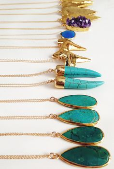 Two of each, just the way it should be.... But I'll take ten of the turquoise. xx Dressed to Death xx #necklace #accessories #art