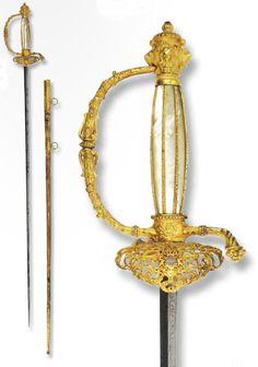 A small sword from Sardinia Italy, ca. 1840.