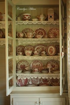 Grandma Katie has a beautiful collection of red transfer ware just like this!