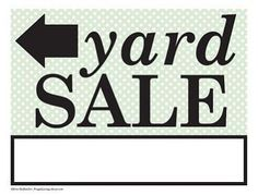 Free Printable Garage Sale Signs: Prefer Yard Sale Signs?