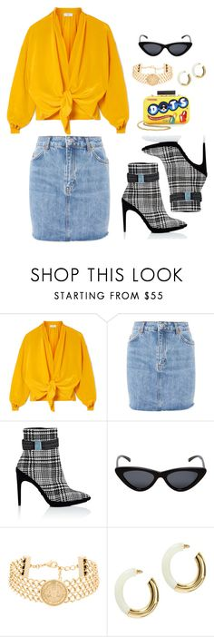 """""""Untitled #731"""" by fashionbasterd on Polyvore featuring Tome, Topshop, Off-White, Le Specs, Balmain, Lizzie Fortunato and Alice + Olivia"""