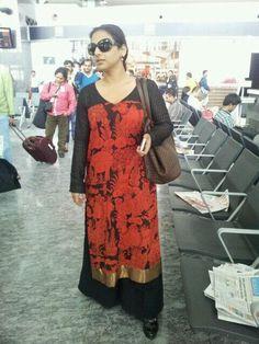 Gaurang Shah. handprinted kurta teamed with pallazzo pants :)