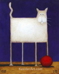 Catch a whiff of whimsy!  This piece is perfect for any cat lover!