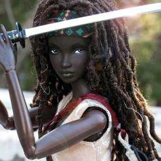 Michonne doll from the Walking Dead