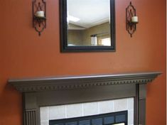 I painted my loft a burnt orange color like this. I was a little nervous it might be too bold, but I absolutely LOVE it. We have dark brown furniture, and they look so good together. I was going for a cozy Tuscan look, and I think it turned out great. Burnt Orange Paint, Orange Accent Walls, Orange Paint Colors, Room Paint Colors, Paint Colors For Living Room, Orange Color, Burnt Orange Kitchen, Wall Colors, Living Room Orange
