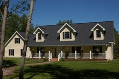 The jamestown rb508a rockbridge modular home a cape for Unibilt homes pricing