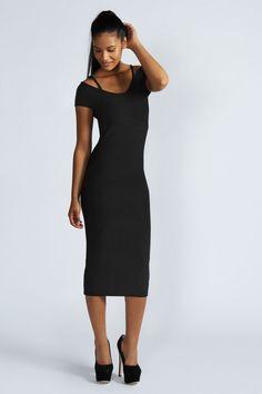 Midi Dress | Mid Length  Pencil Dresses at boohoo.com