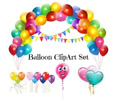 BALLOON ClipArt Set, Balloon Image, Balloon ClipArt Pack,Large Clipart, Full…