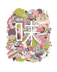 Illustration: Taste. Kailene Falls. 2013