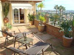 Fantastisk terrasse med sol hele dagen! Id: 7452 #Mijas