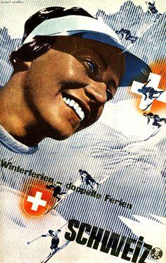 vintage ski poster by Herbert Matter Zwitserland Franz Kline, Jackson Pollock, Photomontage, Modern Graphic Design, Graphic Design Inspiration, Retro Design, Graphic Designers, Moma, Willem De Kooning