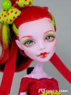 Cherry OOAK Custom Repaint Monster High Doll by Mango's Cabin | eBay
