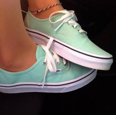 Tiffany blue vans.... that is three tiffany blue shoe pins in a row(: