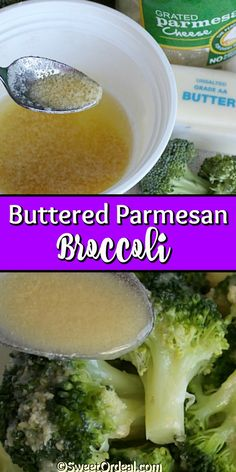 Seriously, the best broccoli side dish I've ever had, and it's only 3 ingredients. Not only is it easy to make, but it goes with most everything. The melted butter is mixed with grated Parmesan cheese, which is then drizzled over the crisp-tender steamed broccoli. So delicious. This Buttered Parmesan Broccoli recipe is just too good not to share. Parmesan Broccoli, Broccoli Cauliflower, Steamed Broccoli, Broccoli Florets, Broccoli And Cheese, Broccoli Recipes, Side Dishes Easy, Side Dish Recipes, Thanksgiving Recipes