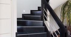 Rampant d 39 escalier avec main courante en tube inox bross - Renover escalier carrele ...