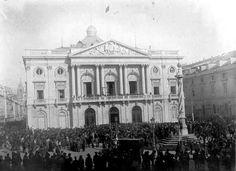 Lisboa, 1910  Praça do Município, proclamação da República