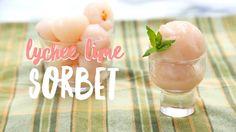 4 Ingredient Lychee Lime Sorbet