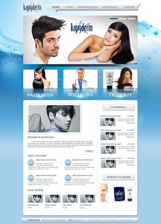 Projekt strony internetowej firmy Kapyderm.
