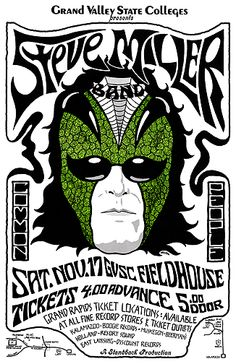 Steve Miller Band approximately 1973 Tour Posters, Band Posters, Music Posters, Event Posters, Steve Miller Band, Music Tours, Rock N Roll Music, Rock Concert, Festival Posters