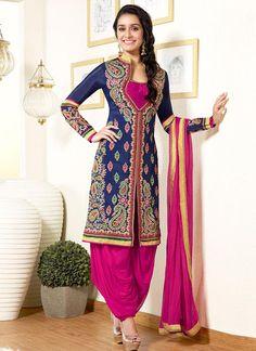 Shraddha Kapoor Pink and Blue Salwar Kameez – Lashkaraa
