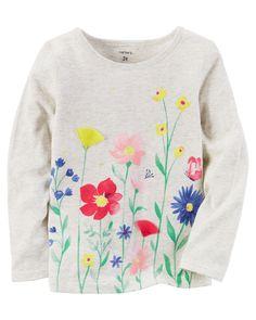 Long-Sleeve Floral Graphic Tee. Tops Bébé ... 3fba735fb06