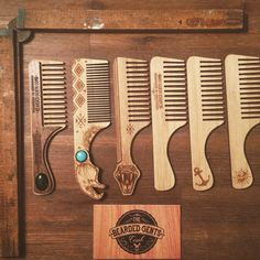Our Short Shank Beard Comb Range Cnc Projects, Woodworking Projects, Comb For Curly Hair, Wood Comb, Chip Carving, Beard Balm, Shaving Cream, Barber Shop, Laser Engraving