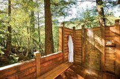 outdoor shower in Napa