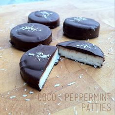 Coco-Peppermint Patties - Paleo, 21 Day Sugar Detox-friendly