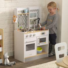 Kidkraft Let's Cook Wooden Play Kitchen - Kid Kraft Wooden Toy Kitchen, Play Kitchen Sets, Wooden Toys, Duktig, Kitchen Prices, Baby Accessoires, Lego Minecraft, Best Interior, Baby Toys