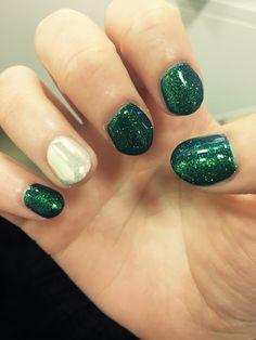Sea mermaid pearl nails #nails#sea#mermaid#green#silver#metalic#art