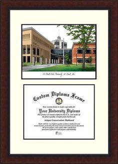 St. Cloud State Diploma Frame Lithograph Legacy Series