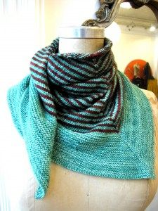 Soho Scarf.  I think some of my knitting buddies have done this one recently.