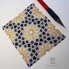 "Maaida Noor on Instagram: ""One can have no smaller or greater mastery than mastery of oneself. -Da Vinci Pattern taught by Adam @artofislamicpattern #davinci #quote #qotd #wip #islamicart #maaidanoor"""