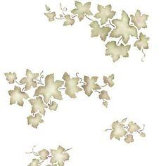 Stencils   Grape Ivy Vine Fruit Stencil - DIY Wall Mural Art