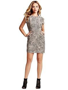 ecfea8d0f3e GUESS Women s Short-Sleeve Snake-Print Tulip Dress