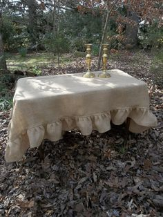RESERVE Burlap Tablecloth Wedding Table Settings by misshettie, $80.00