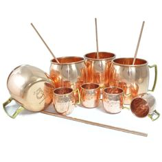 DakshCraft ® Copper Cocktail Moscow Mule Mug (Capacity 17 oz) with FREE Copper Shot Glass (Capacity – 2 oz pr glass) & Copper Straw, Set of 4: Amazon.com: Home & Garden