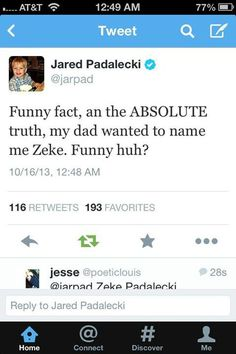 jared tweet about his almost name