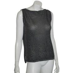 Pre-Owned Skull Cashmere 10916 Gray Cotton Viscose Tank Sweater Skull Back Sz S Cotton Viscose, Streetwear Brands, Basic Tank Top, Cashmere, Luxury Fashion, Skull, Gray, Tank Tops, Sweaters