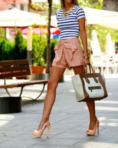 Love the shorts and shirt! Don't care for the bag or shoes.